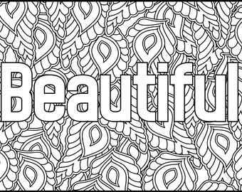 Positive Affirmations Coloring Pages for Adults Adult