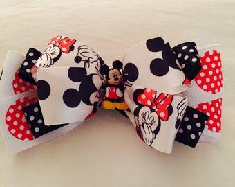 Mickey and Minnie Barrette