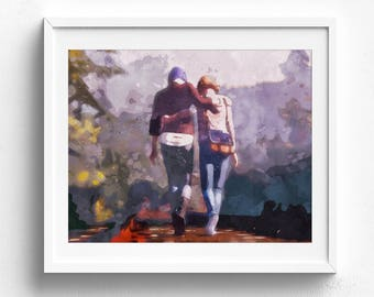 Life Is Strange, video game poster, video game art, gamer gift, boys room poster, kids room poster, gifts for gamers, bedroom poster, games