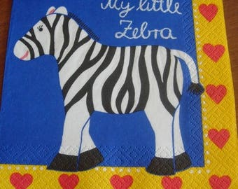 My little zebra paper towel
