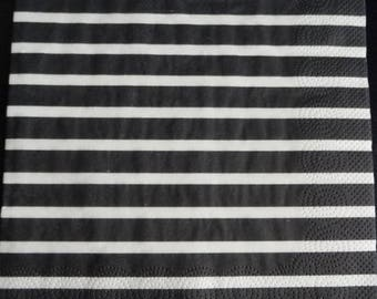 Black and white striped paper towel