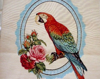 Weaving way Bird on Cup jacquard tapestry Panel