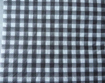 Black and white checkered napkin