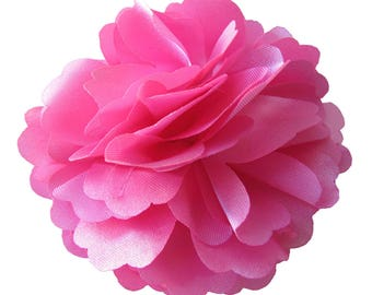 2 Pink Rose Flower Baby Girl Hair Clips Brooches 1 Pair