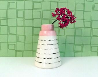 Pink Neck Bud Vase
