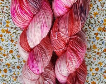 You Give Love A Bad Name.4 Ply hand dyed sock yarn.