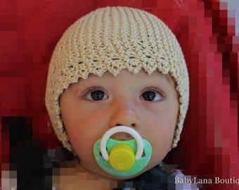 newborn Hat handmade, baby bonnet