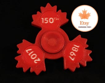 Canada 150 Themed Fidget Spinner Toy - Great for Kids of ALL Ages - EDC Toy Hand Spinner - Distracts the mind - Keeps hands busy