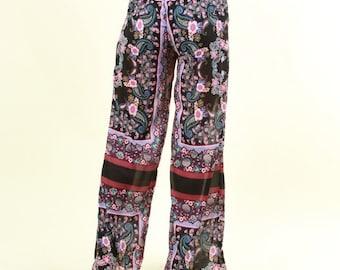 New Paisley print wide leg chiffon pants( Various  sizes)