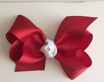 Red boutique hair bow