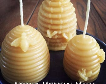 Honey Bees Beeswax Candles - 100 % Pure beeswax