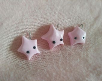Pastel Pink Star - Astronomy Pendant - Star Gazing Lovers - Space
