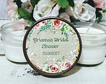 Bridal Party Favors - Bridal Party Gifts - Personalized Bridal Shower Favors - Candle Favors For Bridal Shower - Bridal Party Candles