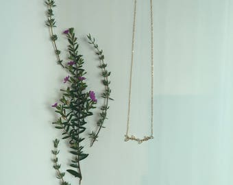 Istra Gold and Swarovski Crystal Vine Necklace Number Two