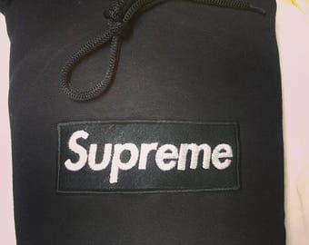 EMBROIDERY Supreme box logo hoodie