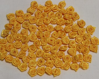 100 Satin roses, table decoration, wedding, sewing