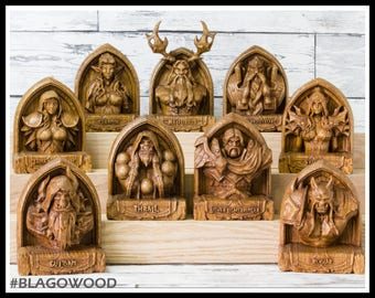 Hearthstone, 9 pieces, wooden, wow, world of warcraft, wow heroes, Malfurion, Guldan, Rexxar, Thrall, Uther, Magni, Valeera, Turande, Jaina