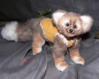 Furry animal, handmade marten sable