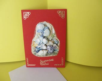 Made 3D hands happy holidays card
