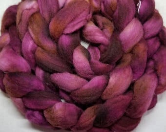 Hand dyed roving indie dyed  roving  Polwarth roving spinning felting fiber