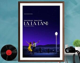 LA LA LAND  Musical Romantic Movie Print Poster , Ryan Gosling , Emma Stone ,  Matt / Silk / Canvas A4/A3/A2