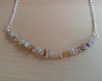 Opal Necklace//Sterling Silver//Raw Opal//October Birthstone// Birthday//Boho Necklace//Brings Light & Happiness