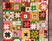Sleeping Porch Sparkling Stars Baby/Toddler Handmade Quilt