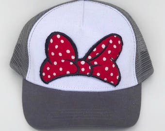 red/white polka dot bow patch