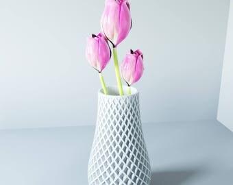 NO PAPER! RESIN  Spiral vase vaso home forniture made in italy design gifts love vaso come ceramica vaso per fiori