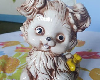 Vintage Dog, Puppy Figurine, Retro Dog Ornament