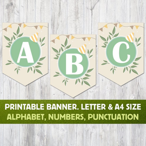 Printable Alphabet Banner: Letters A To Z Numbers And