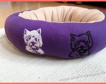 Embroidery file Westie-2 sizes, black + white, 2 variants, dog, embroidery pattern, embroidery file,
