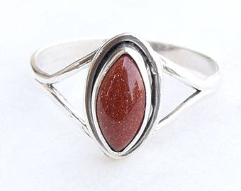 Sandstone Ring, Handmade Ring, Silver Ring, Solid Sterling Silver, Hammered Ring, Sandstone Ring, Sandstone Jewellery