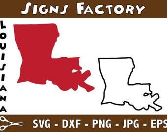 Louisiana Vector, State Clipart, LA Clip Art, Louisiana SVG, State PNG studio cut file Silhouette Studio Cameo, Cricut Dxf Eps Png