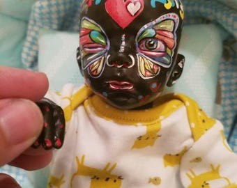 Faerie reborn doll, fairy reborn doll, baby 11 inch reborn doll, unique painting