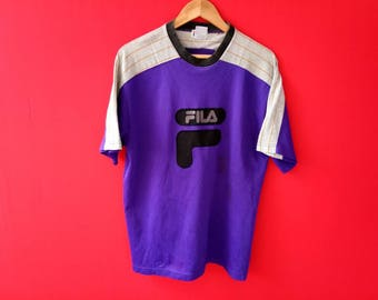 vintage fila big logo casual shirt
