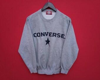 vintage converse sweatshirt big logo medium mens size