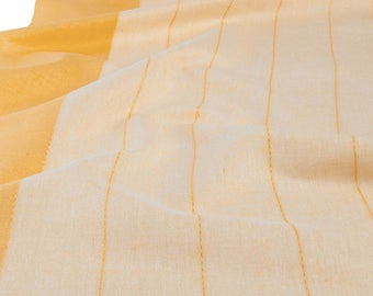 Linen Toweling By The Yard   Linen Fabric   Cotton Linen   Cotton Fabric   Linen Cotton Fabric   Cotton Blend Fabric   Yellow Fabric   Flax