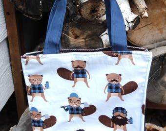 Insulated Lunch Bag Blue Burley Beavers