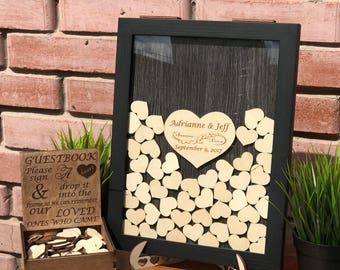 Wedding guest book,wedding guest book alternative, Wedding, Wedding wishes box, Rustic wedding, Drop box guestbook, Guestbook