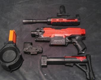 Modified Nerf Stryfe. Totally Custom, Inside and Out !!!!