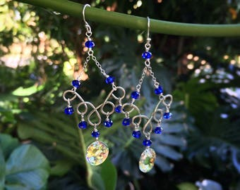 mermaid scale Swarovski earrings
