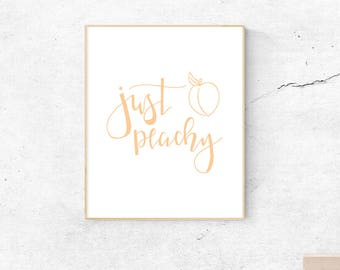 Just Peachy, instant download, wall art, printable art, poster, minimal print, minimalistic, peach