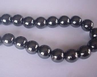 50 8 mm (round) - Hematite Beads 8 mm Hematite beads
