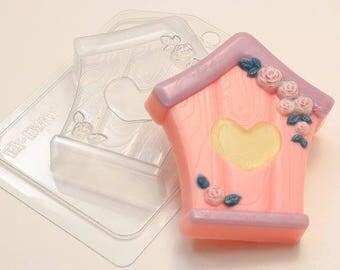 Birdhouse plastic soap mold, birdhouse soap mold, birdhouse soap, birdhouse mold, soap molds, plastic soap molds, soap mold