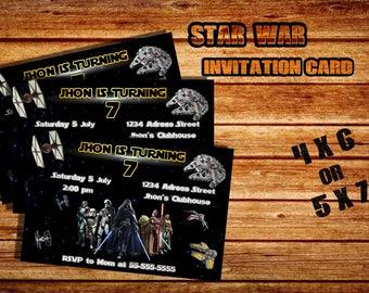 invitation card star war