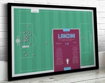 Football Print, Lanzini Print, West Ham Print, Football Gifts, Football Art
