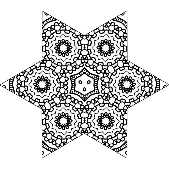 Starburst Printable Coloring Page