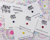 Handmade Watercolor Paint - Dot Card Samples - Primary Palette  - Artisan Watercolor Paint