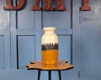 Retro Vintage Mid Century 1960s 1970s Bay West German Large Floor Vase Fat Lava